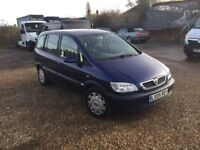 2005 Vauxhall Zafira 1.6cc—7 months mot,excellent runner,ac,cd,central lock,7 seater,clean all round