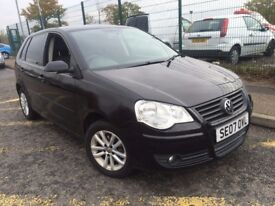VW VOLKSWAGEN POLO 1.4 S 2007 AUTOMATIC 2 OWNERS FULL HISTORY SAT NAV REMOTE CENTRAL LOCKING CLEAN
