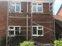 2 x 2m long single width/narrow aluminium easy build scaffold