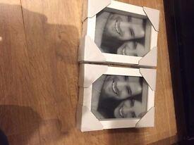 Set of 2 brand new white photo frames