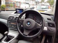 BMW X3 Msport - black 77k with sat nav