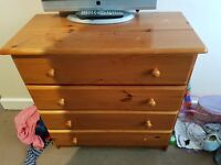 Wardrobe drawers and side table