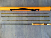 vision mag 10ft 7/8wt 4 piece fly rod with tube little used