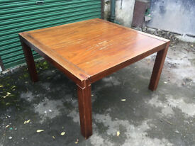 Square table / old table / wood / antique furniture