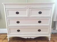 Beautiful Cream Chest of Drawers French Vintage Laura Ashley