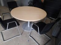 Executive conference meeting table with 4 matching chairs
