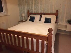 Solid Kingsize wooden bed