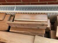 Solid oak used flooring 16sq mt plus new underly