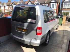 VW Caddy wheelchair adapted 6 seater