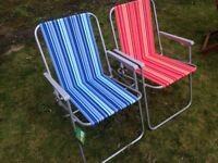 Foldable Metal Picnic Chairs - 6 available