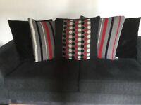 2x 3 seater sofa