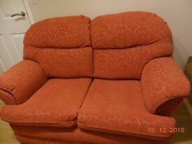 Terracotta Two Seater Sofa