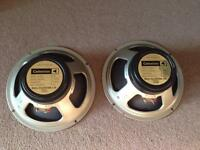 1970's Celestion G12M Greenback Guitar Speakers