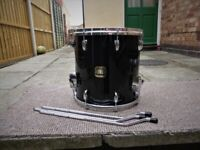 GRETSCH RENOWN 14x14 FLOOR TOM BLACK LACQUER 2nd GENERATION VGC (Collection LE27QT)