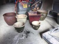 Set of 6 ceramic planters