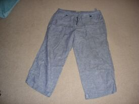 3/4 length summer trousers (2 pairs, Size 12)