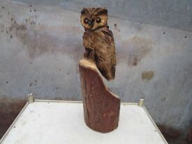 Chainsaw carved Owl garden art, wood, owl, carving, chainsaw, art, garden, owls,sculpture,wooden