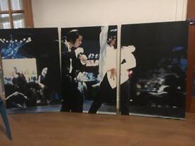 Large 3 part Pulp Fiction Dance Scene Wall Canvas John Travolta Uma Thurman art