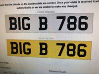 number plate dateless vip muslim number plate BIG 786