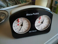 Analogue Chess Clock, HETMAN Mera-Politik, Made in Poland, classic feel