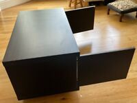 Beautiful, chunky, solid wood TV stand/ storage unit