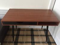 Walnut desk with drawer