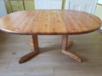 Solid Pine Wood Kitchen Table