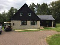 Slaley Hall Northumberland Luxury Golf Lodge Rental Sat 25/08/2018-Sat 01/09/2018 inc Bank Hol Mon