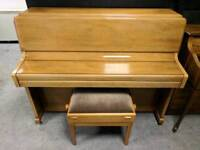 Immaculate Oak 'Knight K10' Upright Console Piano & Stool - CAN DELIVER