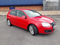 2008 VW GOLF GT SPORT 2.0 TDI 170BHP AUTOMATIC DSG BRIGHT RED,2 OWNER,SERVICE HISTORY,LOVELY CAR