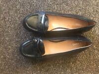 Ladies Navy Next Loafers