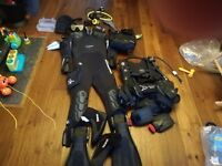 Scuba diving equipment, brand new with tags. This has never got wet