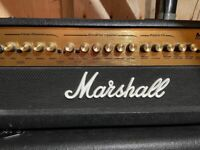 Marshall MG100HDFX guitar amplifier head with MG412 cabinet