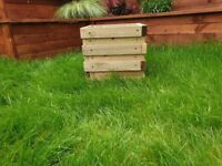 Funky Design Square Wooden Planter