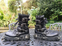 NEW ROCK 'Reactor' Leather Boots - Size 9