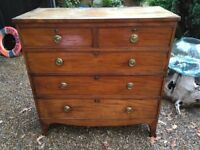 Vintage Antique 5 Draw Chest of Draws