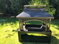 Aldi outdoor log burner, made up and unused, cost £60 sell for £40