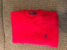 Men's red Ralph Lauren knitted jumper