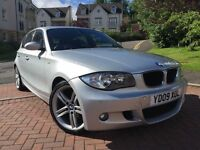 *12 MONTHS WARRANTY*2009(09)BMW 1 SERIES 2.0 M/SPORT 5DR WITH ONLY 67,000 MILES-FULLY LOADED*