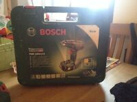 Used, Bosch PSR1800 LI2, with Bosch drill bits in original case