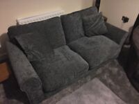 Charcoal double sofa bed