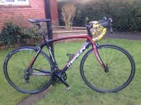 Merlin malt cr full carbon 20 speed road bike,53cm 8.2kg frame,full 105 groupset,700c cxp elite whee