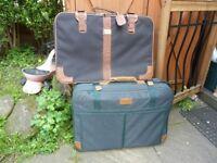 Suitcases x2.