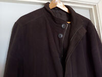 MENS F & F MOLESKIN BROWN COAT XL LITTLE WORN VGC.