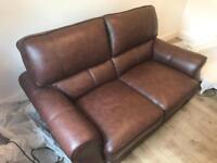 New 2 seater couch leather
