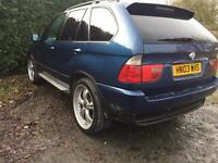 2003 BMW e53 x5 blue breaking for parts 3.0 diesel manual