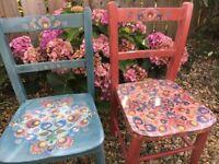 Shabby Chic antique children's chairs