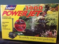 Laguna Powerjet 3000 -Waterfall & Fountain Pump. Brand New In Sealed Boxed