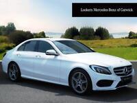 Mercedes-Benz C Class C220 D AMG LINE (white) 2016-06-10