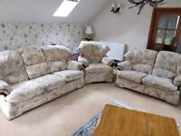 G Plan Carrera Three Piece Suite Electric Recliner Very Good Condition